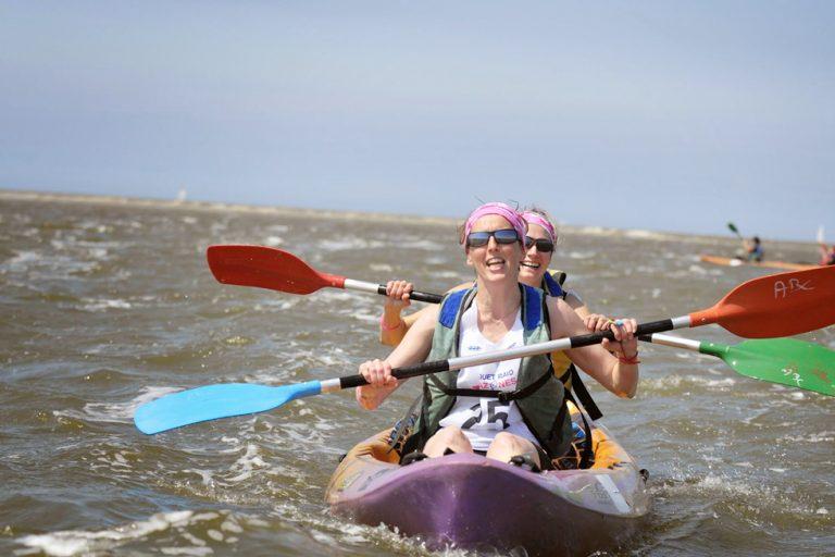 participantes au raid amazones sur un canoë kayak