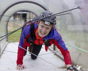 un participant sur le parcours du touquet raid pas de calais